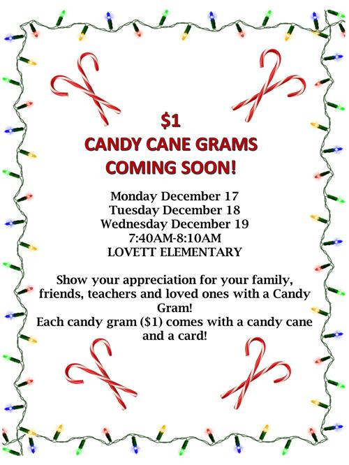 Candygrams sold dec 17 - 19