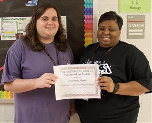 January Teacher of the Month Harris