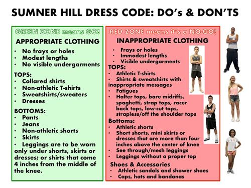 Dress Code Do's and Don'ts