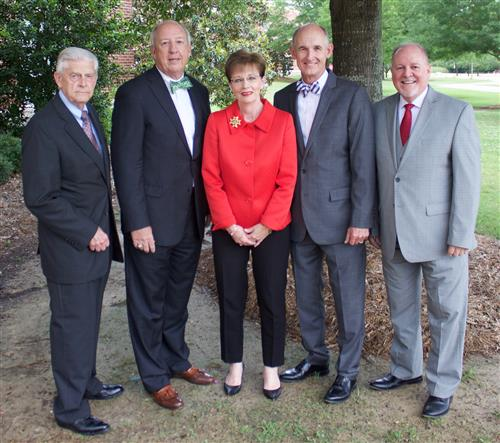 (from left) Dr. Belue, Dr. McCoy, Dr. Henderson, Dr. Burchfield and Dr. Martin