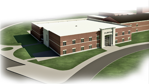 Architect rendering of the new CHS Career Complex
