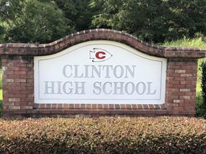 Clinton High School sign