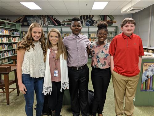 Kayleigh Kupietz, Ella Bailey, Kelvin Woodruff, Keariel Bracey and Jason Jones