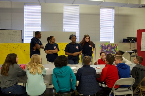 CHS students teach lovett students about forensics