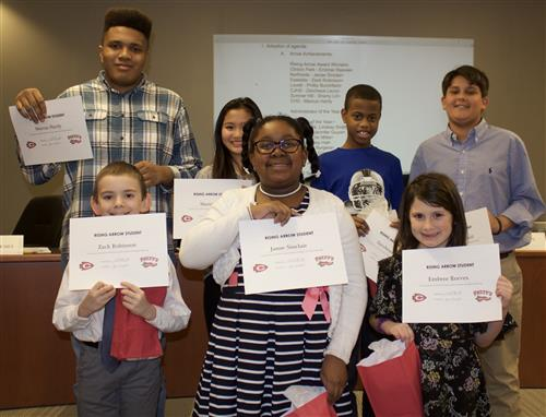CPSD students received Rising Arrow awards
