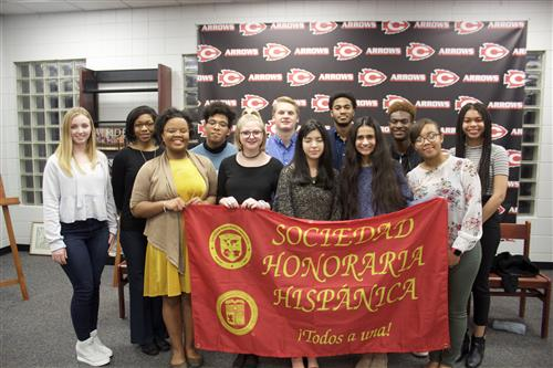 CHS students in the National Spanish Honor Society
