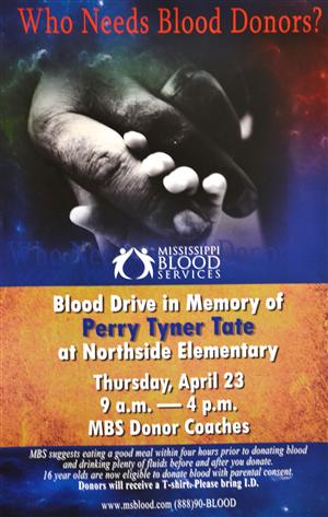 Perry Tyner Tate Blood Drive